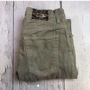 Vintage Express high waist jeans 7/8 Cream color